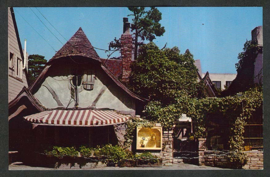 Fairy Tale Court Dolores St Carmel CA postcard 1960s