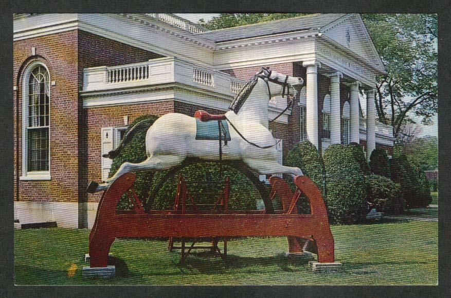 World's Largest Rocking Horse Winchendon MA postcard 1964