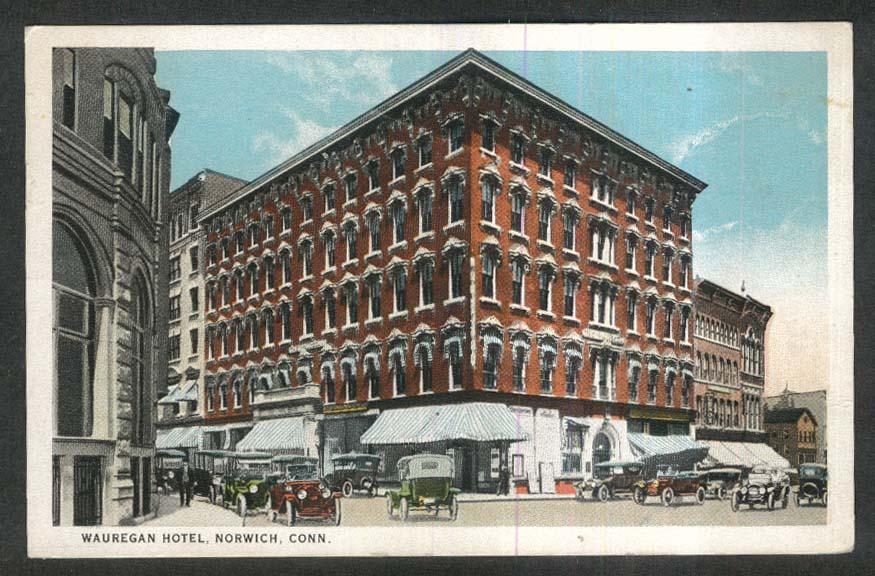 Wauregan Hotel Norwich Ct Postcard 1924