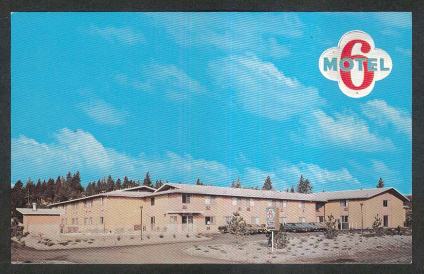 Motel 6 1508 South Rustle St Spokane WA postcard 1970s