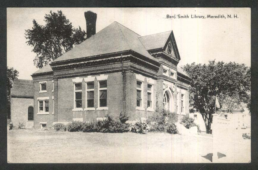 Benjamin Smith Library Meredith NH postcard 1910s