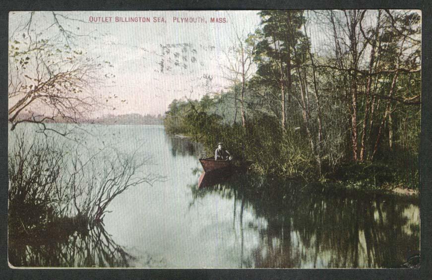 Outlet Billington Sea Plymouth MA postcard 1916