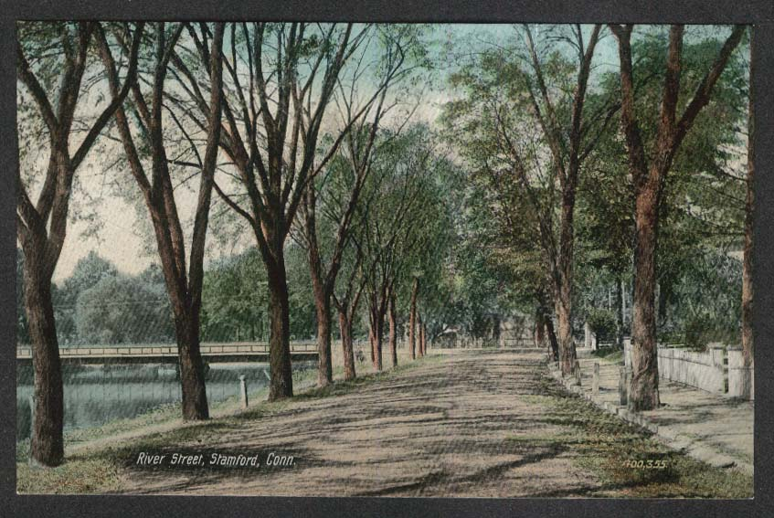 River Street Stamford CT postcard 1910s