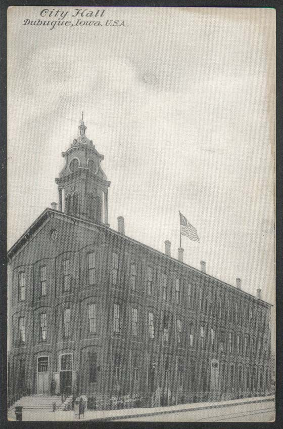 City Hall Dubuque IA postcard 1907