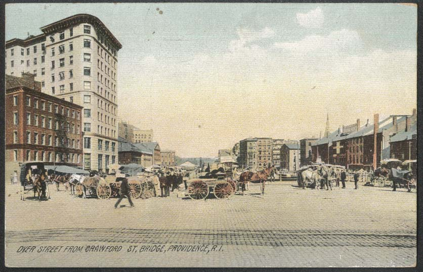 Dyer Street from Crawford St Bridge Providence RI postcard 1910s