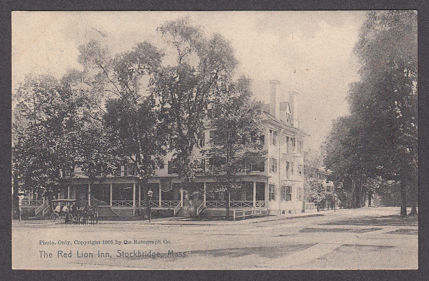 The Red Lion Inn Stockbridge MA postcard 1908