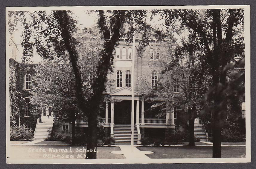 State Normal School Geneseo NY RPPC postcard 1930s