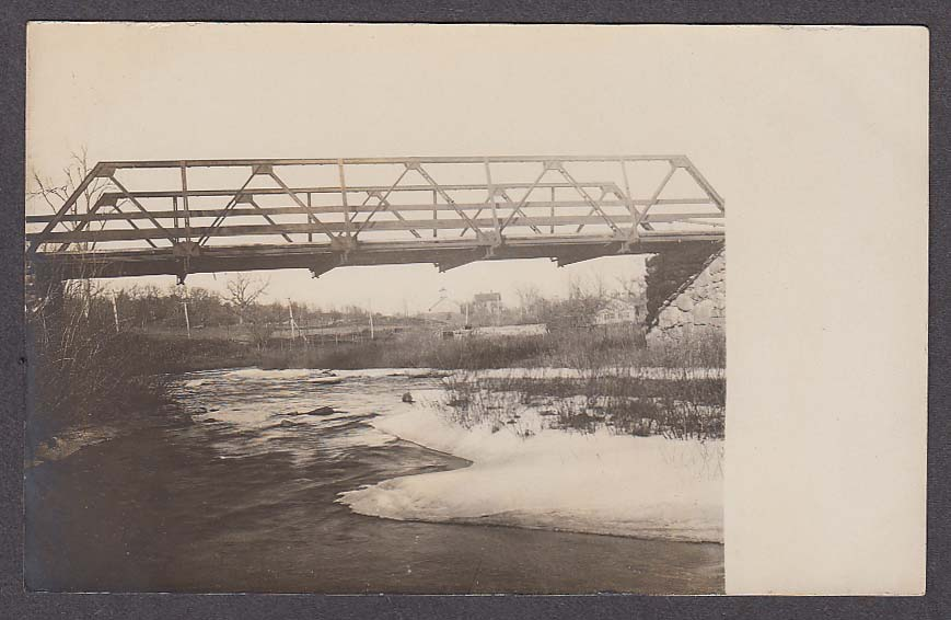 Mount Hope CT New Bridge RPPC postcard 1910s