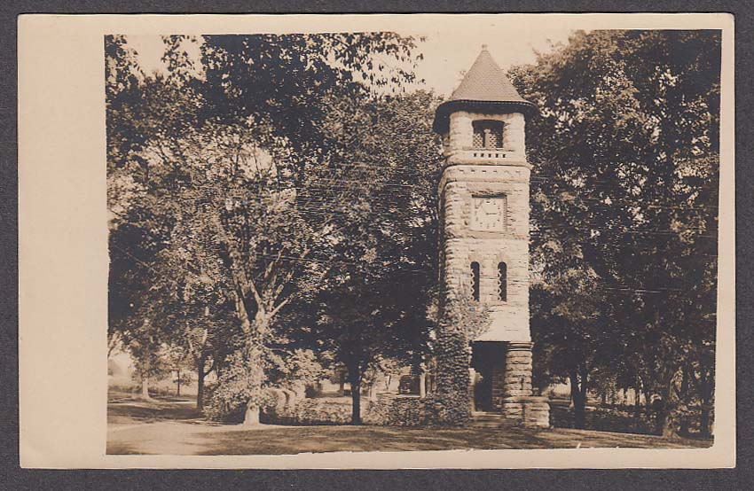 Clock Tower Sharon CT RPPC postcard 1920s