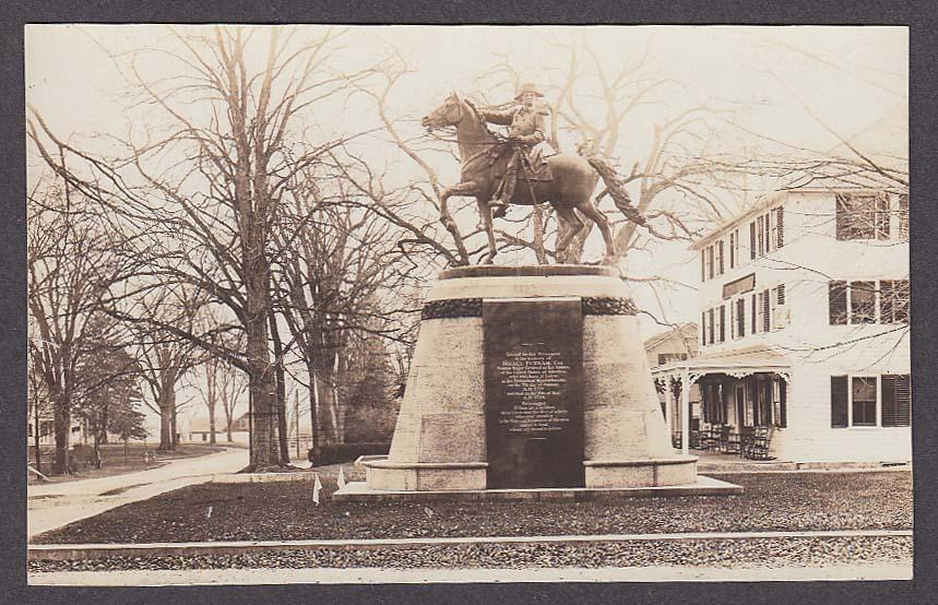 Israel Putnam Statue Brooklyn CT RPPC postcard 1930s
