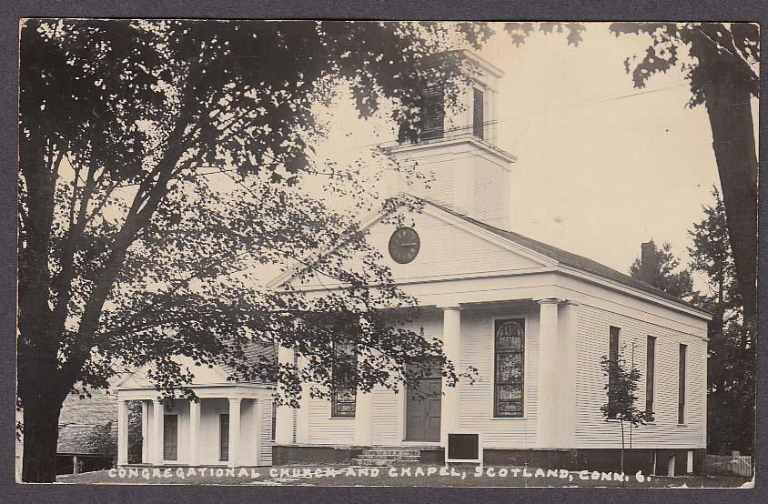 Congregational Church & Chapel Scotland CT RPPC postcard 1950s