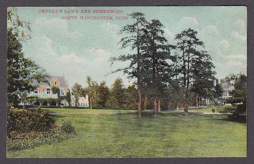 Image for Cheney's Lawn & Residences South Manchester CT postcard 1910s