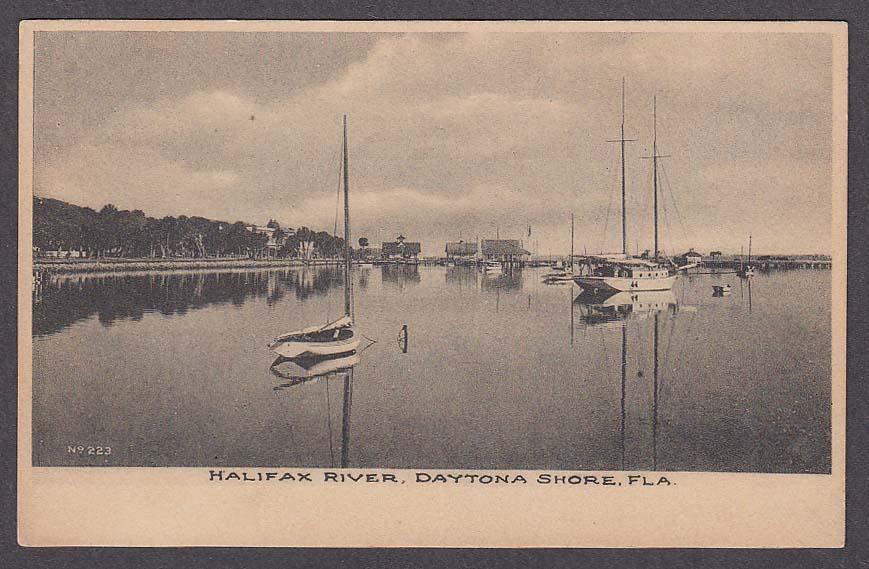 Image for Halifax River Daytona Shore FL undivided back postcard 1900s