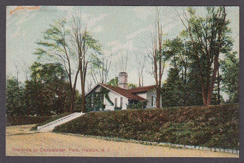 Image for Entrance to Cadwalader Park Trenton NJ postcard 1910s