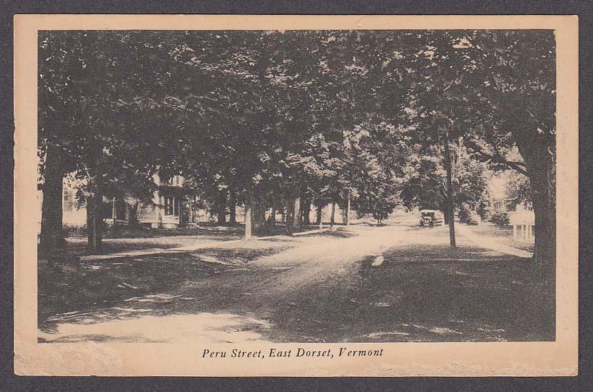 Image for Peru Street East Dorset VT postcard 1910s