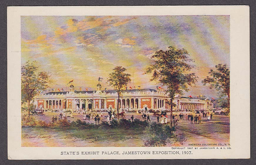 Image for State's Exhibit Palace Jamestown Exposition 1907 postcard