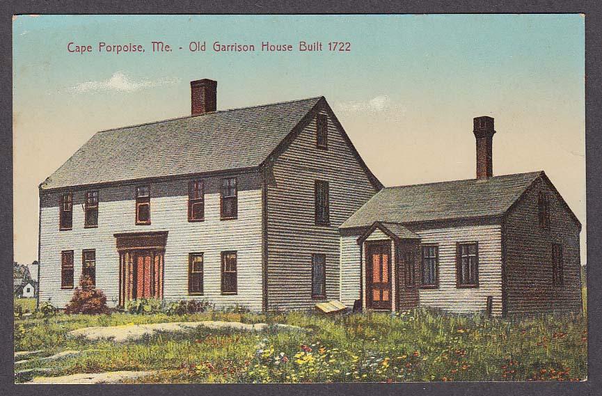Image for Cape Porpoise ME Old Garrison House Built 1722 postcard 1910s