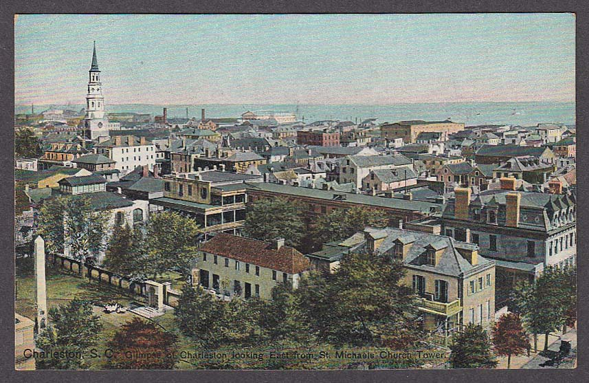 Image for Charleston SC looking East from St Michaels Church Tower postcard 1910s