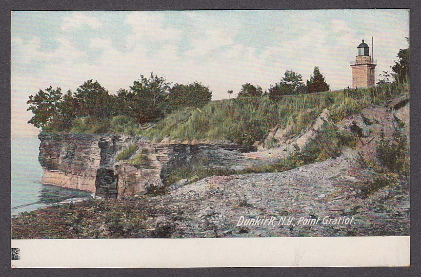 Image for Dunkirk NY Point Gratoit postcard 1910s
