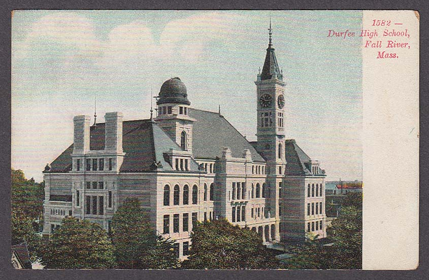 Image for Durfee High School Fall River MA undivided back postcard 1900s