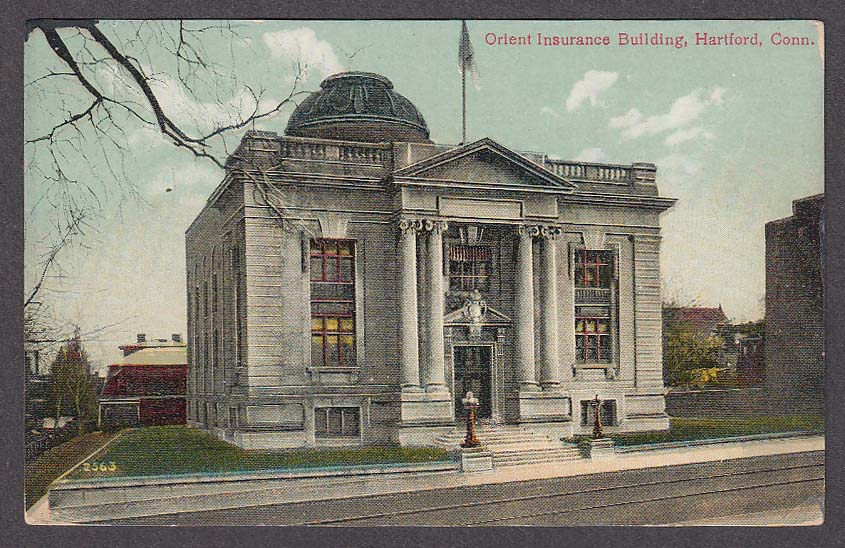 Image for Orient Insurance Building Hartford CT postcard 1920s