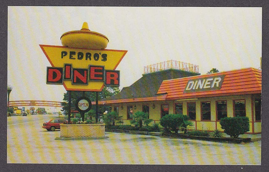 Image for Pedro's Diner South of the Border SC postcard 1970s