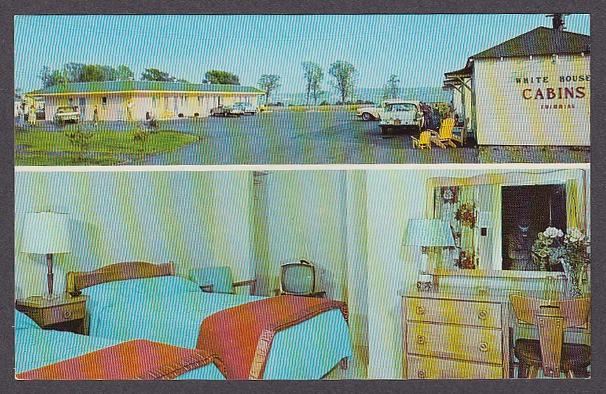 Image for White House Motel & Cabins Beauport Quebec Canada 2-view postcard 1950s