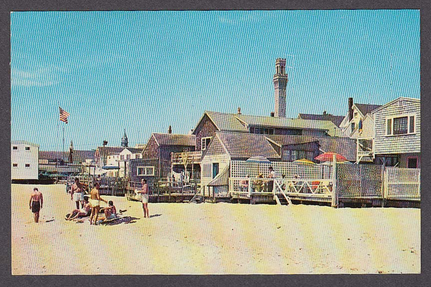 Image for Provincetown Beach Cape Cod MA postcard 1950s