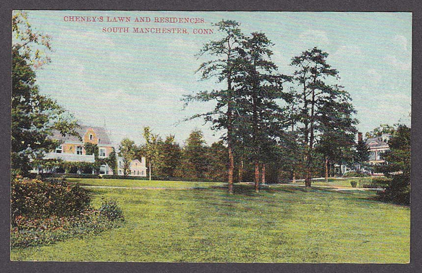 Image for Cheney's Lawn & Residences South Manchester CT postcard 1920s