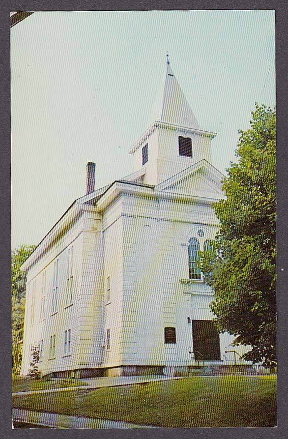 Image for First Methodist Church Stafford Springs CT postcard 1960s