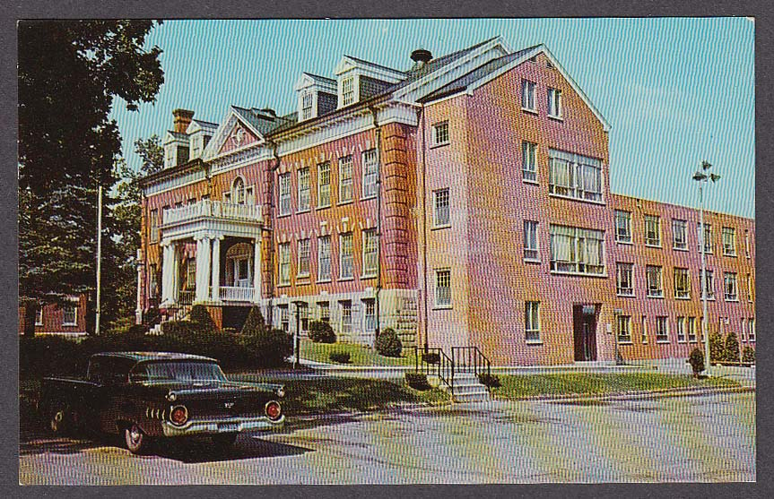 Image for 1959 Ford at Johnson Memorial Hospital Stafford Springs CT postcard 1960s