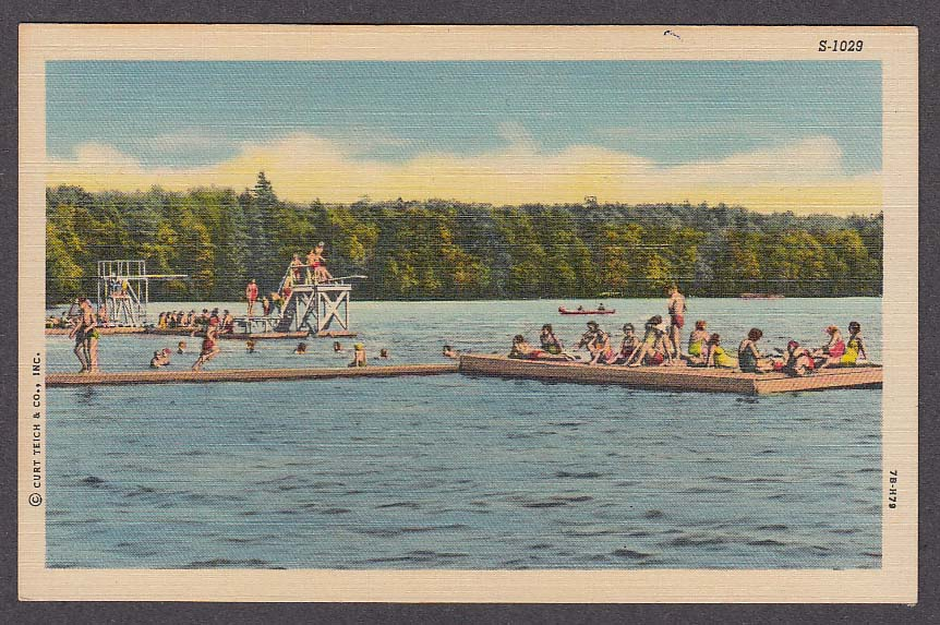 Image for Jimmy's Crystal Lake Rockville CT postcard 1950s