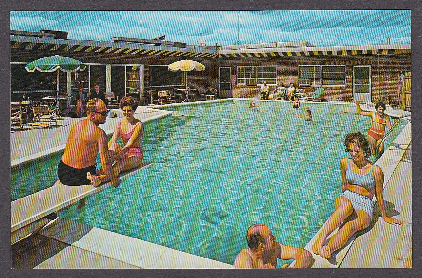 Image for Queen City Motel Manchester NH postcard 1960s