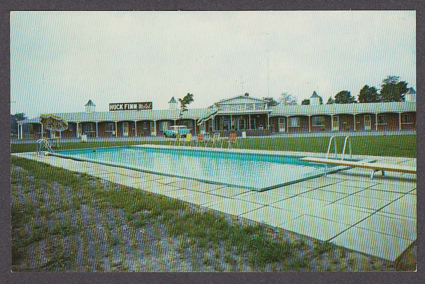 Image for Huck Finn Motel Horseheads NY postcard 1950s