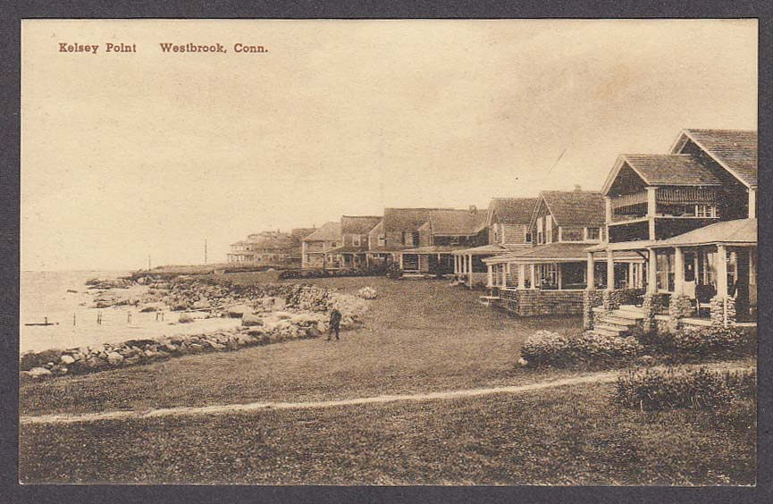 Image for Kelsey Point Westbrook CT postcard 1920s