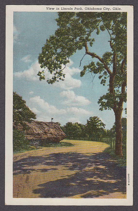 Image for View in Lincoln Park Oklahoma City OK postcard 1930s