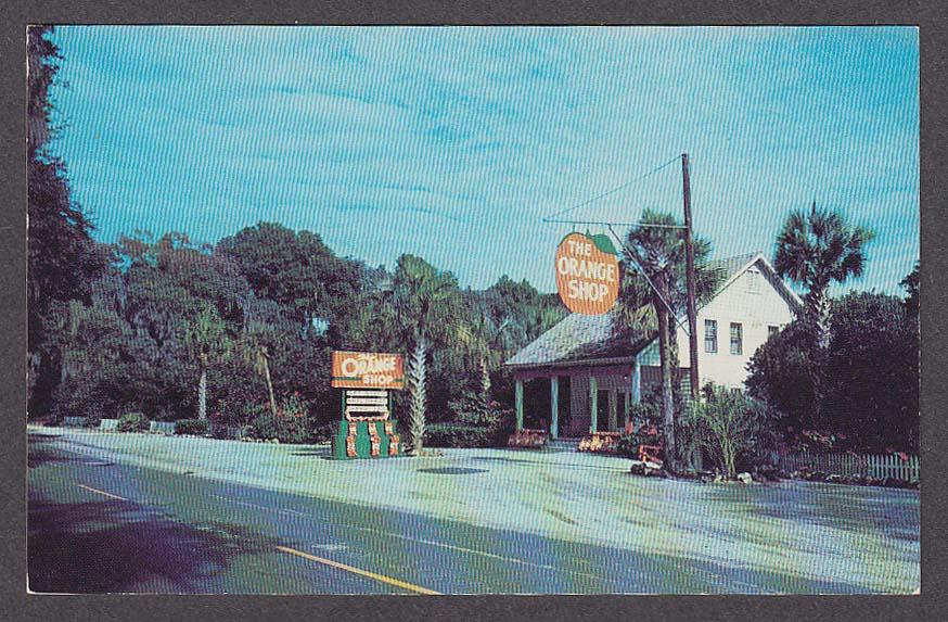 Image for The Orange Shop Citra FL postcard 1950s