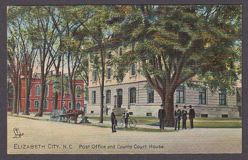 Image for Elizabeth City NC Post Office & County Court House postcard 1910s