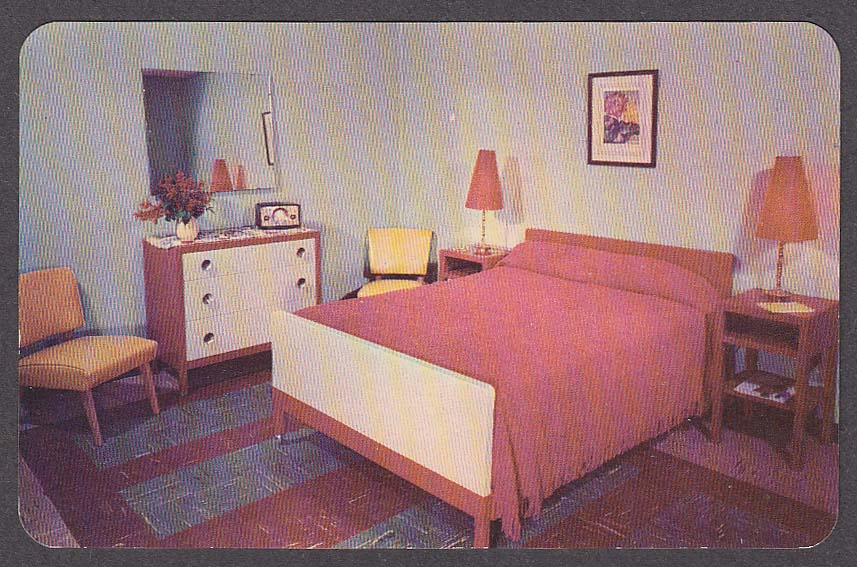 Image for Luxurious Cabin at Fernwood Bushkill PA postcard 1950s
