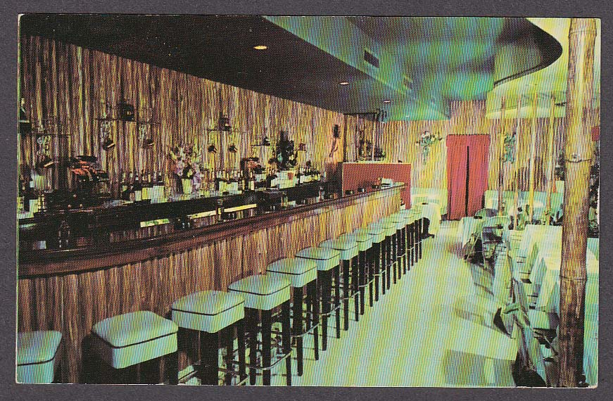 Image for The Pit Cocktail Lounge Sunrise Boulevard Fort Lauderdale FL postcard 1950s