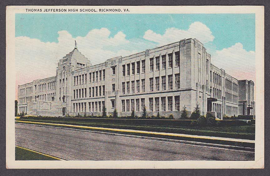 Image for Thomas Jefferson High School Richmond VA postcard 1920s
