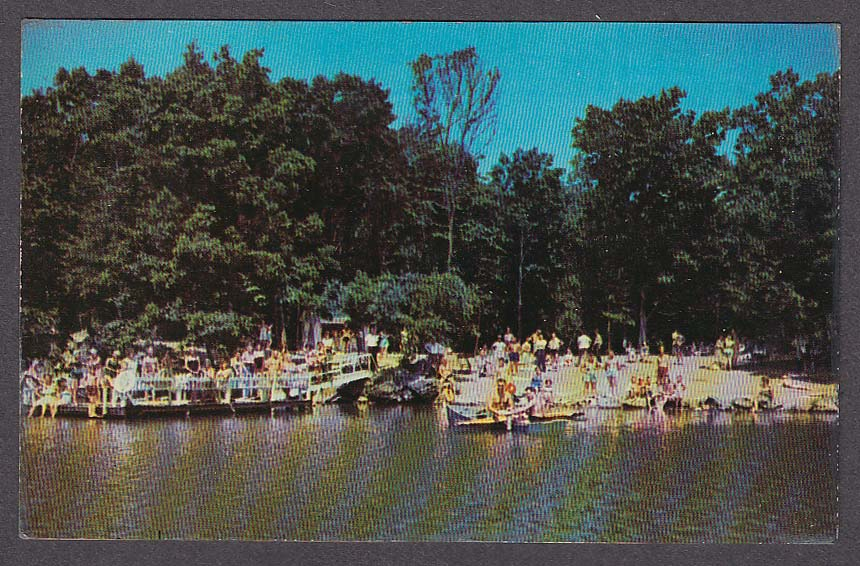 Image for Arow Lake & Beach Arow Farm Monroe NY postcard 1950s
