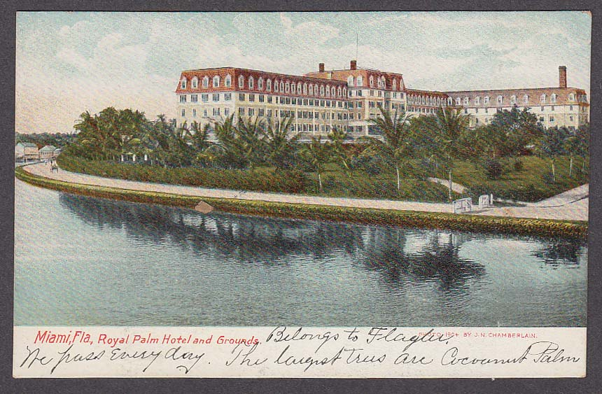 Image for Miami FL Royal Palm Hotel & Grounds postcard 1910s