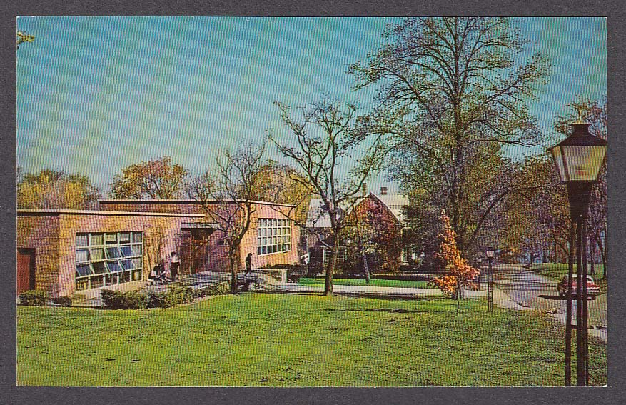 Image for Hattie M Strong Library Keuka College NY postcard 1950s