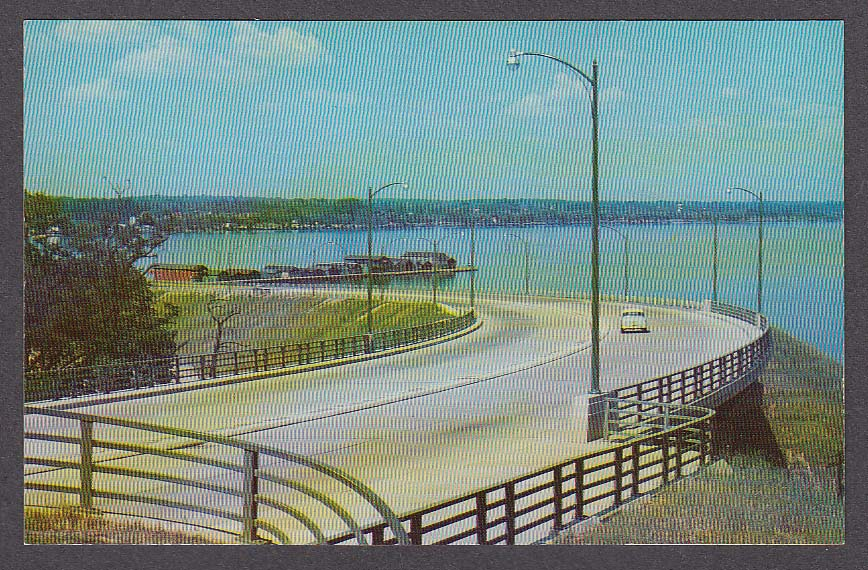 Image for New Arterial By-Pass Geneva NY postcard 1950s