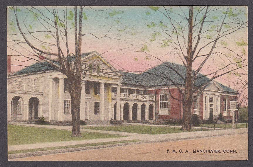 Image for YMCA Manchester CT postcard 1910s