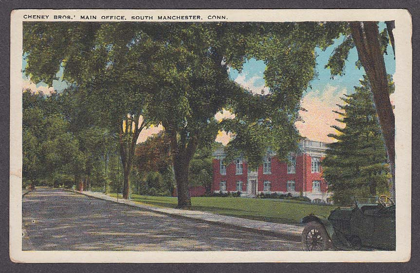 Image for Cheney Bros Main Office South Manchester CT postcard 1910s
