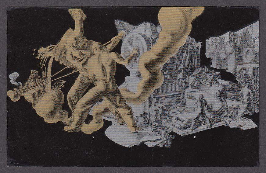 Image for Strength & Safety #7, 8 Dean Cornwell New York World's Fair 1939 postcard