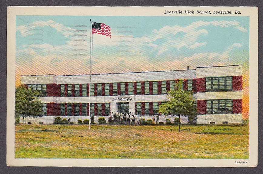 Image for Leesville High School Leesville LA postcard 1954