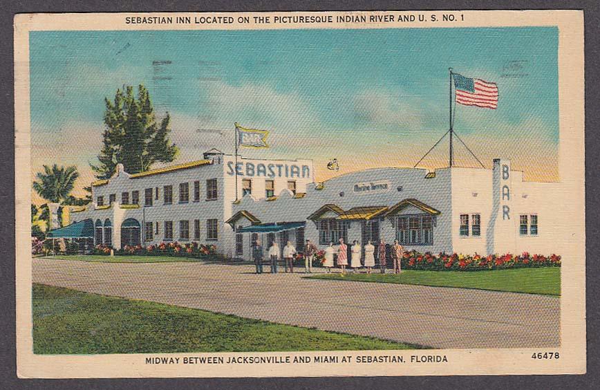 Image for Sebastian Inn Indian River Sebastian FL postcard 1942